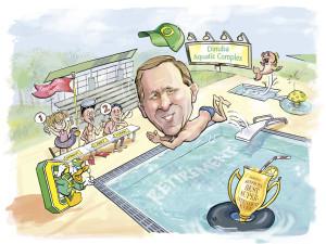 Chevron Retirement Caricature